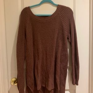 Charlotte Russe Maroon Sweater With A Cutout Back